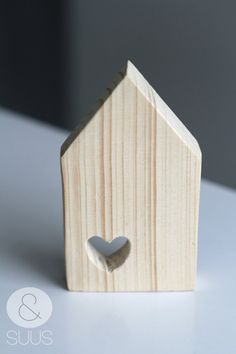 Wooden house with heart on Etsy, 76,54 kr