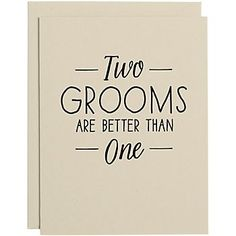 Two Grooms A2 Wedding Card