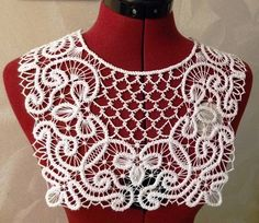 Lace for a dress or blouse handmade needle lace Crocheted lace