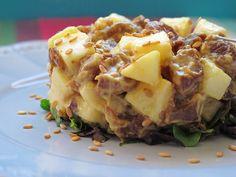 Tartar de atún y manzana. To be Gourmet | Gastronomía, recetas de cocina y restaurantes.