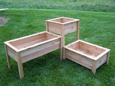 Varying Height Vegetable Box Gardens | Elevated Design Eliminates Constant Bending and Kneeling #backyardgardenboxes