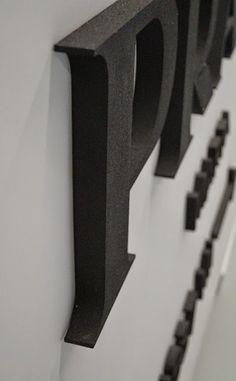 Wohnträume, Design, 3d Buchstabe, Leinwand
