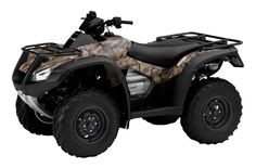 2012 Honda Fourtrax Rincon Natural Gear Camouflage ATV.