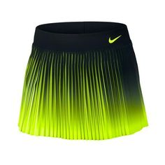 """Wow the crowd in the Nike Women's NikeCourt Flex Victory 11.75"""" Tennis Skirt! This updated skirt features a contrasting color that pops out of the pleats when you complete your victory twirl! Nike Dri-FIT Flex fabric gives you maximum mobility, while the inner compression shorts offer support and storage. The flat front waistband adds to this flattering style!"""
