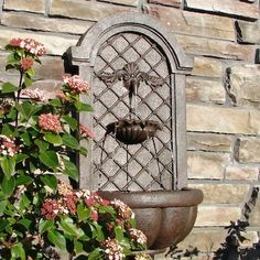 The Manchester - Outdoor Wall Fountain - Weathered Bronze - Water Feature for Garden, Patio and Landscape Enhancement, http://www.amazon.com/dp/B007INV4O8/ref=cm_sw_r_pi_awdm_Eirrvb1WNXFWZ