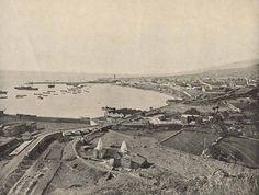 Vista panorámica de Santa Cruz de Tenerife, en primer término los hornos de cal