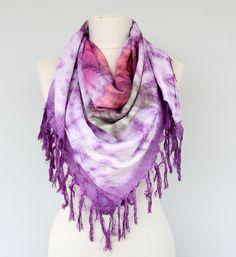Fringe scarf beach cover up  #bohoscarf #fringescarf #scarves #tiedye