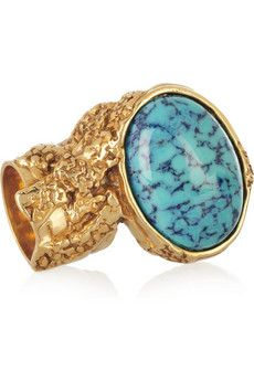 #webwant DDGDaily's editor's shopping list! Arty Gold-plated Glass Ring