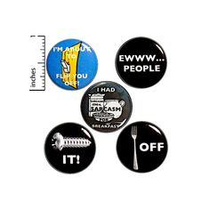 Sarcasm Button 5 Pack Funny Bad Puns Fork Off Ewww People I Had Sarcasm For Breakfast Screw It Jacket Backpack Pins Gift Set 1 Birthday Jokes, Funny Birthday Gifts, Bad Puns, Funny Puns, Hilarious, Sarcastic Humor, Sarcasm, Work Jokes, Work Humor