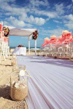 beach wedding - grand sirenis