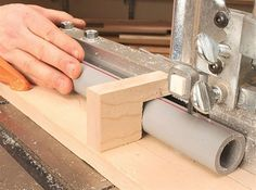 How to cut dowels or PVC pipe length-wise on a bandsaw