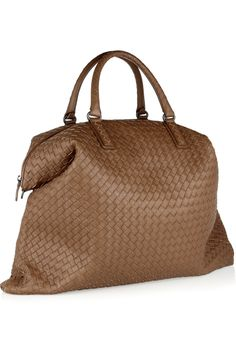 I love Bottega Venetawoven leather. This is a great shade and a great size.