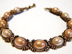 Vintage Liz Claiborne Bracelet  Bronze With by MURPHYSTREASURES2