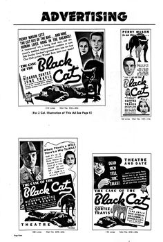 Ricardo Cortez in The Case of the Black Cat (1936).  Press Book, Page 4.  From the Jim Davidson Collection.