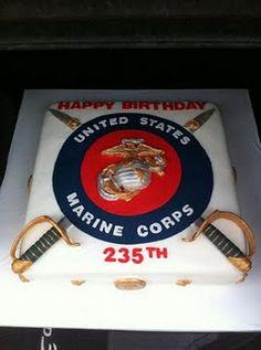 USMC cake - Remember Remember the 10th of November