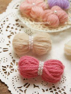 【毛糸モチーフ①】 リボンの作り方