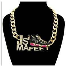 What y'all think about this necklace? #jordans #necklaces #jsonmafeet #mycourageuxjewelry #mcjline #marketing #bold #branding #building #business #jays #accessories #advertising #edgy #different #style #photoshoot #videoshoot #onlineshopping #onlinestore