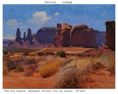 """The Dry Season, Monument Valley by Calvin Liang Oil ~ 18"""" x 24"""""""