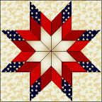 Blazing Star   Skill Level INTERMEDIATE Finished Size 12″ x 12″ Download Templates Click here to download a .pdf with templates. (Problems downloading our .pdf? Click here for troubleshooting tips.)   CUTTING INSTRUCTIONS Background – Fabric 1 … Piece B … Cut 4 squares 4″ x 4″ … Piece C … Cut 1 square 6 …