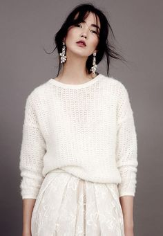 Knitted bridal sweater from Kaviar Gauche's 2015 bridal collection