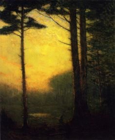 ein-bleistift-und-radiergummi:  Charles Warren Eaton 'Sunset Pines' ca.1900-1910