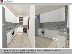 Progettazione cucina in stile shabby chic   My easy relooking blog ...