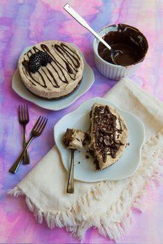 Paneer Chai Cheesecake with Chocolate Crust! ( Gluten/ Egg/ Grain Free)