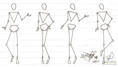 Fashion Figure Templates, Fashion Design Template, Fashion Illustration Sketches, Fashion Sketches, Illustration Techniques, Human Figure Drawing, Figure Poses, Dress Sketches, Fashion Figures