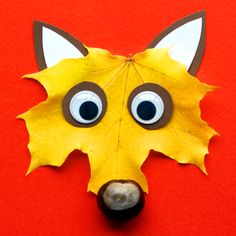 Making autumnal lion with leaves - crafts in less than 20 minutes- Herbstlicher Löwe mit Blättern basteln – Basteln in unter 20 Minuten Making fox from autumnal leaves and chestnuts …. Slumber Party Crafts, Slumber Parties, Craft Party, Winter Crafts For Kids, Diy For Kids, Halloween Games, Halloween Pumpkins, Leaf Crafts, Diy And Crafts