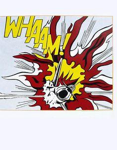 Roy Lichtenstein Whaam Panel 2 of 2 print for sale. Shop for Roy Lichtenstein Whaam Panel 2 of 2 painting and frame at discount price, ships in 24 hours. Modern Art, Art Prints, Roy Lichtenstein, Roy Lichtenstein Pop Art, Lovers Art, Pixel Art, Art Movement, Pop Artist, Framed Art Prints