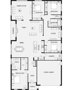 Milano, New Home Floor Plans, Interactive House Plans - Metricon Homes - Sydney, NSW House Floor Design, Modern House Floor Plans, Tiny House, House Plans Australia, Narrow House Designs, 4 Bedroom House Plans, Minimalist House, Guest Suite, Future House