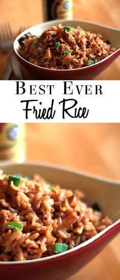 This  recipe from Erren's Kitchen is the best ever fried rice - it's so good, it's right up these with Chinese restaurants!