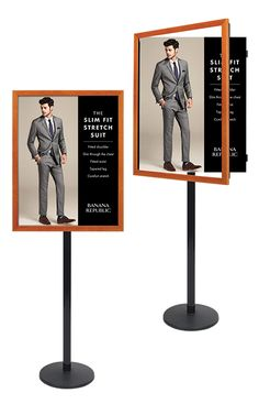 Swing Open Poster Displays and Sign Stands Poster Display, Sign Display, Display Stands, Pecan Wood, Retail Signs, Displays, Open Frame, Metal Models, Frame Sizes