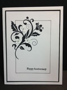 flowering flourishes stampin up   Flowering Flourishes Anniversary Card Stampin' Up!