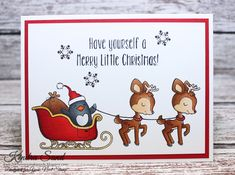 Luv 2 Scrap n' Make Cards, Kendra Sand, Your Next Stamp, Handmade Christmas Card