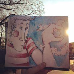 #sun #warsaw Travel Drawing, Warsaw, Illustrators, Sun, Instagram Posts, Painting, Painting Art, Illustrator, Paintings