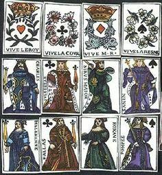 Antiche carte da gioco francesi (XVI secolo?)