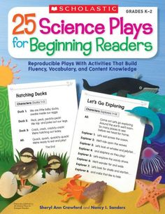25 Science Plays for Beginning Readers: Reproducible Plays With Activities That Build Fluency, Vocabulary, and Content Knowledge by Sheryl Crawford Science Resources, Science Facts, Science Lessons, Teacher Resources, Activities, Science Ideas, Little Free Libraries, Free Library, Library Ideas