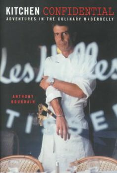 Kitchen confidential : adventures in the culinary underbelly by Anthony Bourdain.  Click the cover image to check out or request the non-fiction kindle.