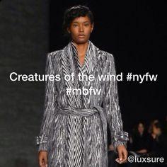▶ Creatures of the wind #mbfw #nyfw - http://flipagram.com/f/XzsEJjMAgO