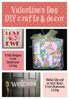 Ideas for Valentine's Day #valentinesday #crafts #decor #positivewalls #uppercaseliving