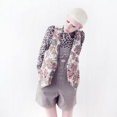 FLORAL PATTERN WAISTCOAT £32 http://www.mindthemustard.com/floral-pattern-waistcoat-1 #mindthemustard #dungaree #waistcoat #vintage #onlinestore