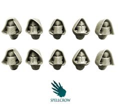 Space Knights - Space Knights hooded helmets - SPELLCROW