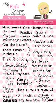 www.memorymiser.com - My Pink Stamper Music Speaks Stamp Set