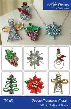 Scarica Zipper Natale Cheer modello cucire | accessori per capelli | YouCanMakeThis.com