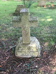 Harry Price grave stone St Mary's Pulborough. Ghost hunter