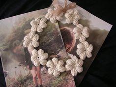 Ravelry: Project Gallery for Mollie Flowers pattern by Brigitte Read Crochet Scarf Diagram, Crochet Flower Patterns, Crochet Flowers, Crochet Collar, Knit Crochet, Free Crochet, Crochet Crafts, Crochet Projects, Yarn Flowers