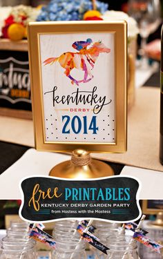 Possible Derby Theme! Free Kentucky Derby Party Printables from Hostess with the Mostess Cowboy Party, Horse Party, Horse Racing Party, Derby Horse, Crown Party, Run For The Roses, Derby Day, Derby Dinner, Living At Home