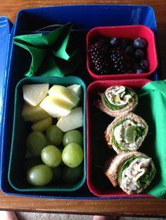 Turkey-grape-feta-arugula nom noms, apples&grapes, blackberries&blueberries