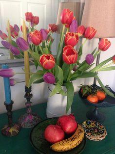 Purple and orange tulips - great colour combo